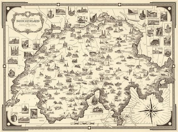 Zwitserland als Picturale kaart