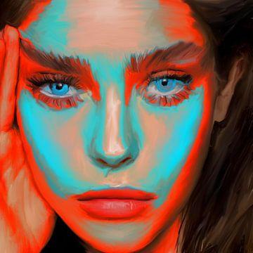 Blue Eyes (FaceIt 799) van Berrie Coelman