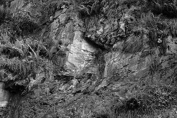 Rotsformatie in zwart wit von Elroy Spelbos