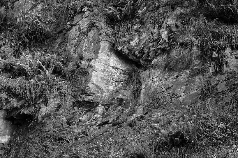 Rotsformatie in zwart wit van Elroy Spelbos