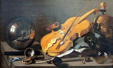 Nature morte Vanitas avec autoportrait, Pieter Claesz sur