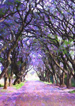 Weg zwischen dem Wald von Angel Estevez
