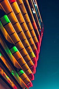 Neon lichten in het donker van