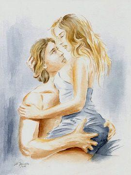 Paar in liefde van