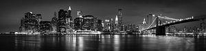 Lagere Manhattan Skyline van Keith Wilson Photography