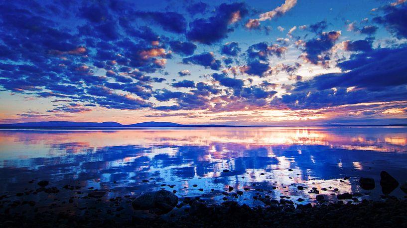 Zonsondergang in Zweden van Hamperium Photography