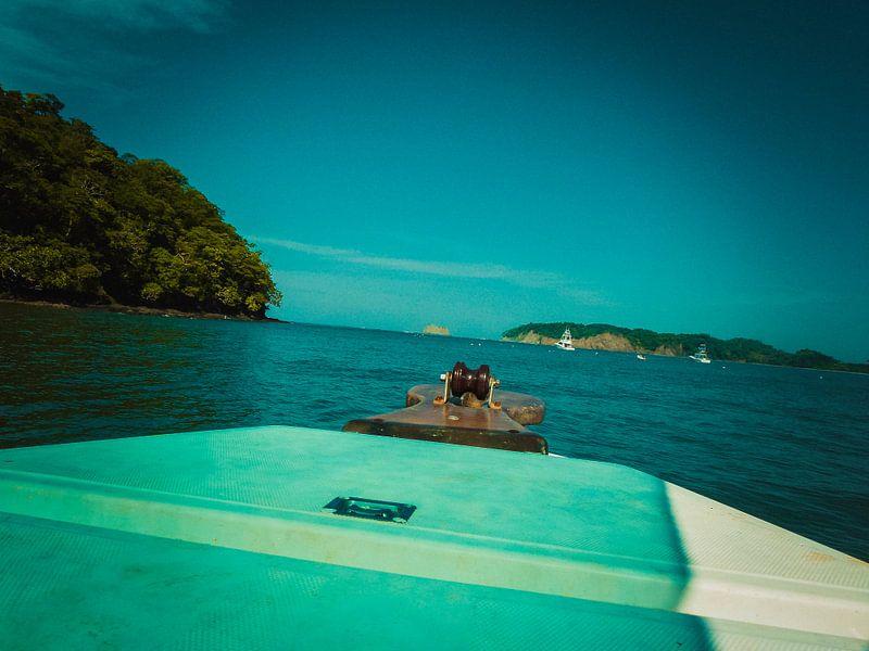 Boot op het water van Koop je Canvas