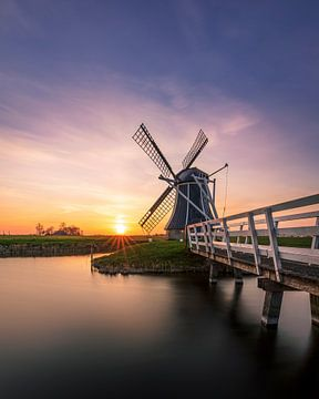 Hatsumermill, Dronrijp, Friesland von Edwin Kooren