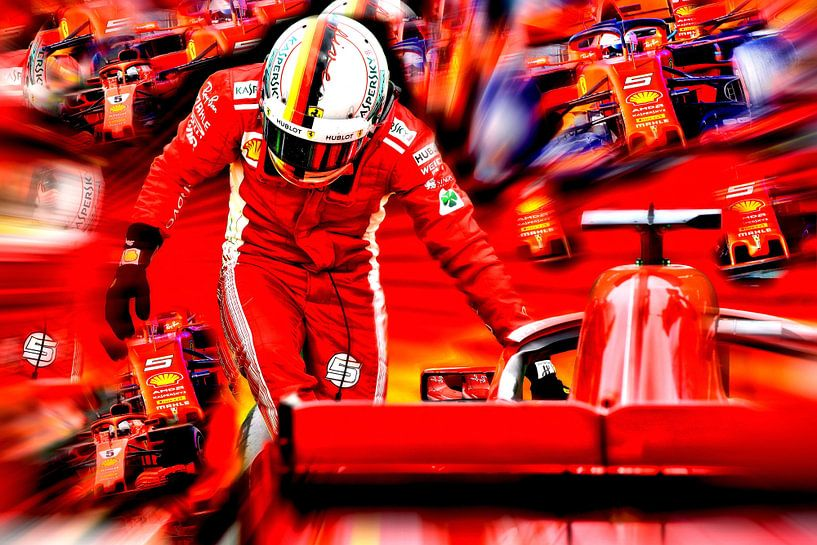 Vettel - World Champion Formula 1 2010, 2011, 2012, 2013 von Jean-Louis Glineur alias DeVerviers