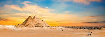Die Pyramiden von Gizeh von Günter Albers