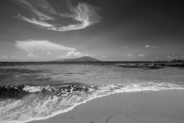 Küste bei Agrilaopothamos, Karpathos, Griechenland von Peter Baak