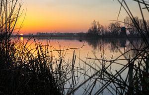 eerste zon boven het meer van Bart Nikkels
