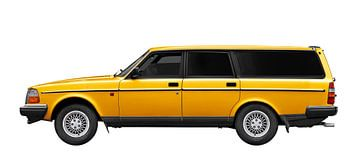 Volvo 245 Kombi in yellow von aRi F. Huber