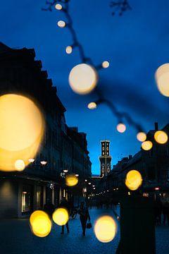 Fürth Stadhuis in het blauwe uur