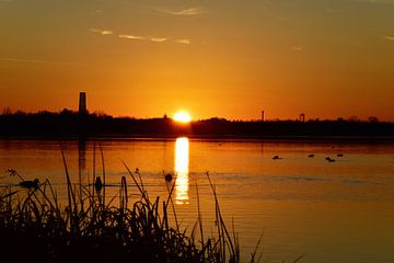 Sonnenuntergang Cospudener See Leipzig von Marcel Ethner