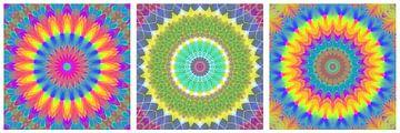 Regenbogen Mandalas 3 von Marion Tenbergen