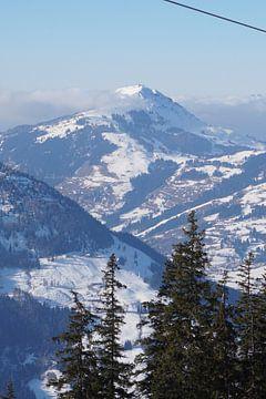 Blick auf die Hohe Salve von Kitzbühel (Tirol, Österreich) von Kelly Alblas