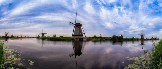 Kinderdijk Panorama (Kleur) van Joram Janssen