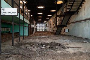 Verlaten Luchthaven Hal.