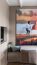 Klantfoto: POPPIES  (Gezien bij VTwonen, weer verliefd op je huis ) van db Waterman, als print op doek