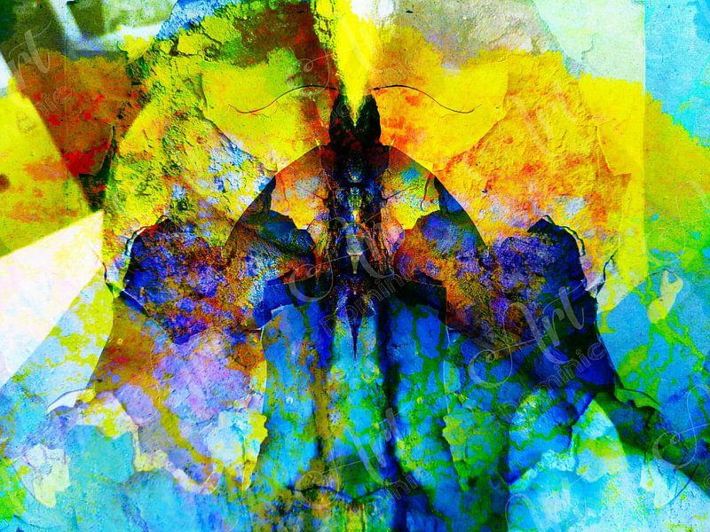 Modern, Abstract kunstwerk - The Beast Inside van Art  By Dominic