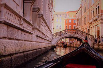 Venetië uitzicht vanaf de gondel van Loretta's Art