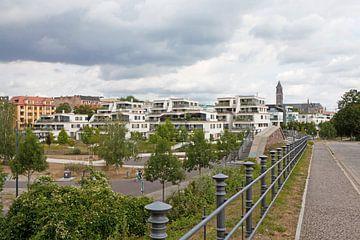 Magdeburg - Neue Bebauung auf dem Elbbahnhof van t.ART