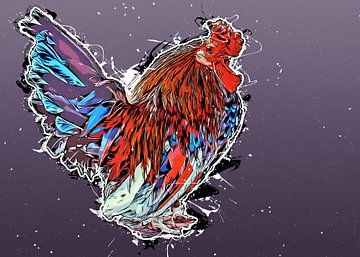 Hahn Vogel Kunst #Hahn von JBJart Justyna Jaszke