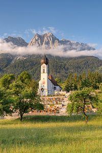 Ochtend in Grainau in Beieren