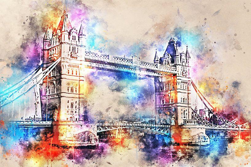 Tower Bridge - Londen (tekstloos) van Sharon Harthoorn