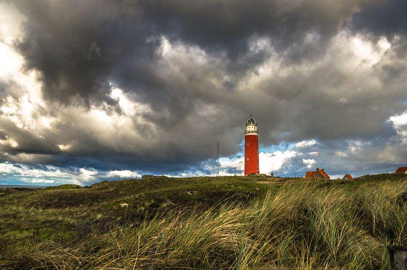 Eierland Vuurtoren en de Duinen van Texel van Ricardo Bouman | Fotografie