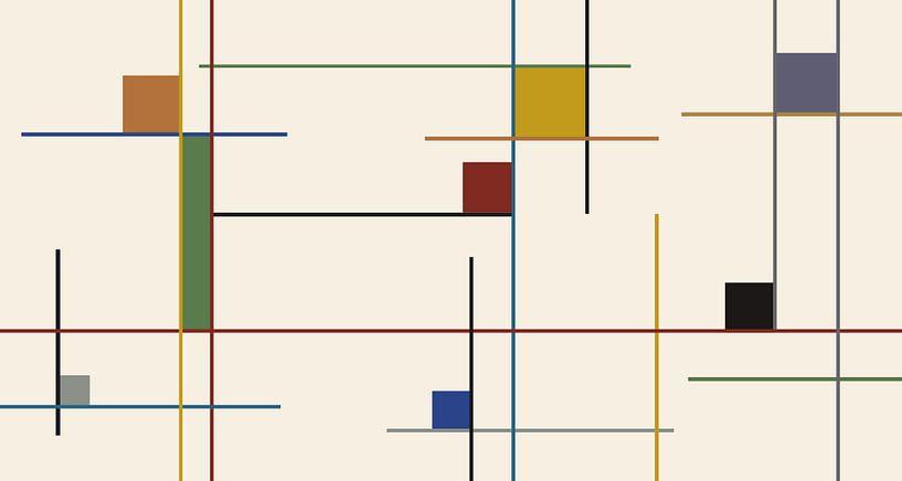 farbige Linien von Marion Tenbergen