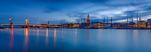 Kampen avond panorama von Sjoerd van der Wal