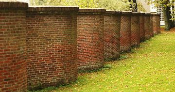 Muur, Kasteelmuur,Gras van Agnes Meijer