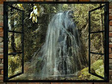 Raam uitzicht - Golling - Waterval van Christine Nöhmeier