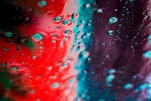 Blauw en rood schuim