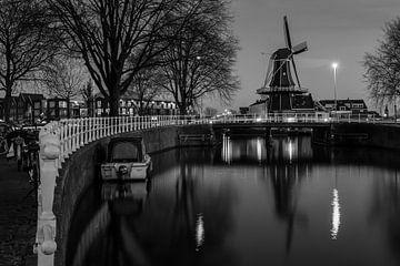 De molen in de nacht van