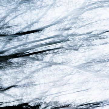 Baum | Abstrakt in blau von Henriëtte Mosselman