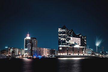 Elbphilharmonie bij nacht van Florian Kunde