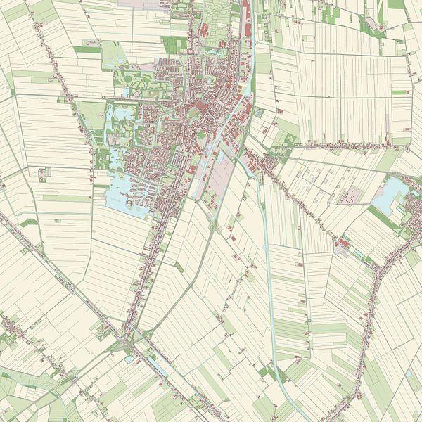 Kaart vanVeendam van Rebel Ontwerp