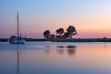 Sonnenuntergang in Friesland von Thijs Friederich