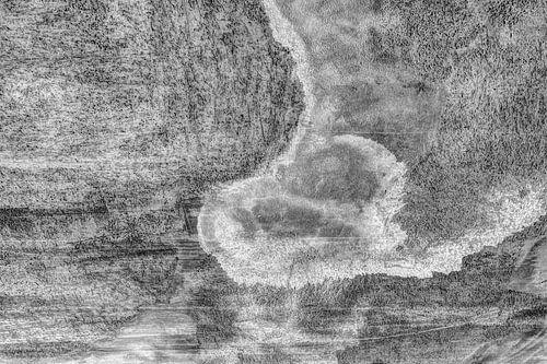 Minimalisme Kunst Fotografie Betonnen Muur Zwart-Wit