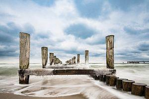 Buhne an der Ostseeküste