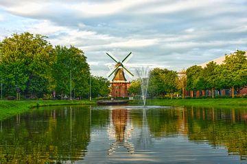 Windmühle in Papenburg von Dirk Herdramm