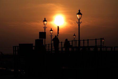 Sfeervolle zonsondergang van
