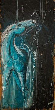 Pferd im Mondlicht von Mirjam Bouma
