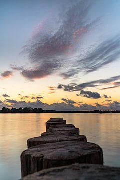 Valkenburg-See in der Abendsonne von Martijn Joosse
