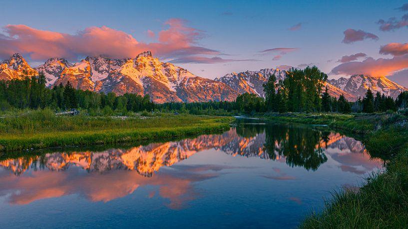 Zonsopkomst Grand Teton NP, Wyoming, Verenigde Staten van Henk Meijer Photography
