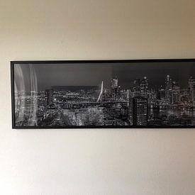 Photo de nos clients: Panorama of Rotterdam skyline at night sur PJS foto, sur poster