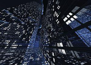 futuristische architectuurstad Q-City 8